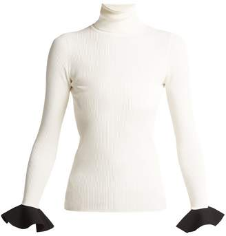 Ribbed-knit roll-neck sweater
