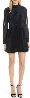 Ted Baker Lourah Georgette Sleeve Velvet Minidress