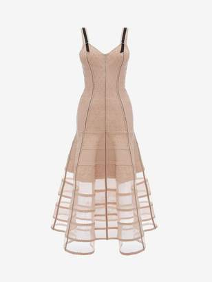 Alexander McQueen Bustier Midi Knit Dress