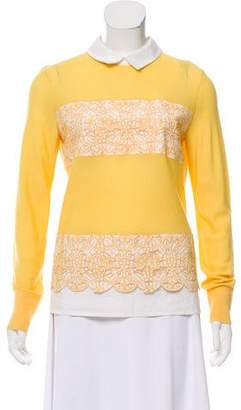 Tory Burch Wool Embroidered Sweater