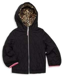 London Fog Little Girl's Reversible Hooded Jacket