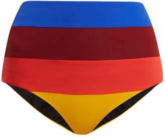 Mara Hoffman Lydia high-rise striped bikini briefs