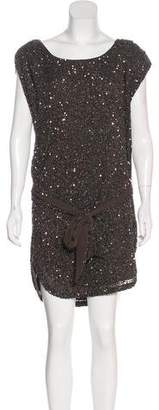 Haute Hippie Embellished Mini Dress