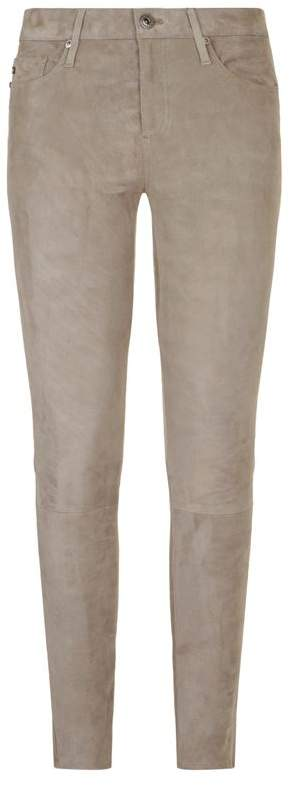 The Legging Ankle Suede Jeans