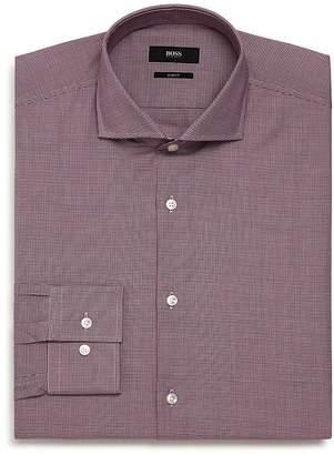 BOSS Micro-Herringbone Slim Fit Dress Shirt