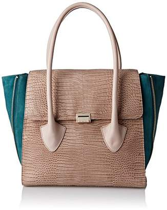 Pour La Victoire Women's Morandi Colorblock Embossed Snake Large Satchel