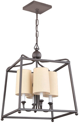 Crystorama 4-Light Dark Bronze Chandelier