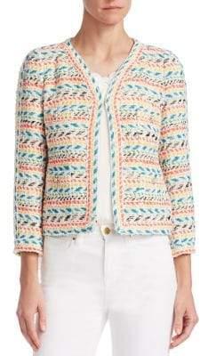 Edward Achour Women's Tweed Cropped Jacket - Size 38 (6)