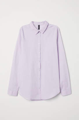 H&M Cotton Shirt - Purple