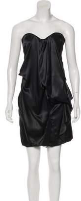 Hanita Satin Strapless Dress w/ Tags