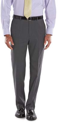 Chaps Big & Tall Classic-Fit Gray Wool-Blend Comfort Stretch Flat-Front Suit Pants