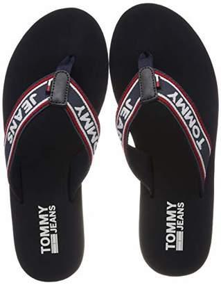 88ae29e21f60 Tommy Jeans Hilfiger Denim Women s s POP Webbing MID Beach Sandal Flip Flops