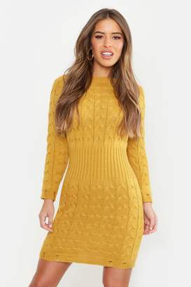 boohoo Petite Cable Knit Sweater