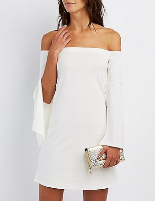 Off-The-Shoulder Bell Sleeve Dress $29.99 thestylecure.com