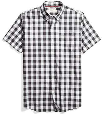 Goodthreads Men's Standard-Fit Short-Sleeve Heathered Large-Scale Check Shirt