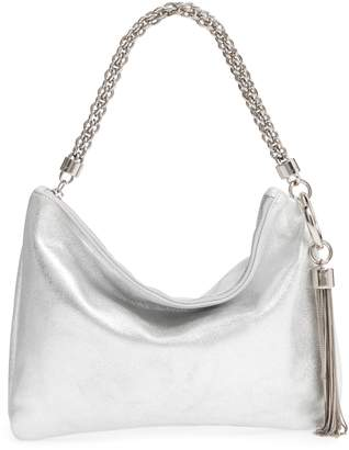Jimmy Choo Callie Evening Metallic Leather Clutch