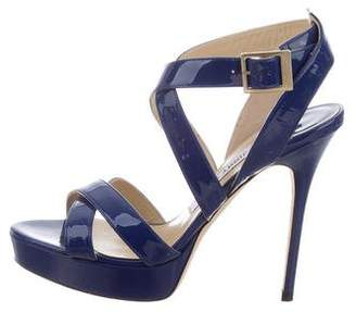 Jimmy Choo Patent Leather Vamp Sandals