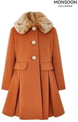 Monsoon Girls Toff Coat - Brown