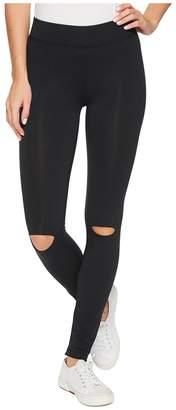 Alternative Cotton Modal Spandex Jersey Slashed Leggings Women's Casual Pants