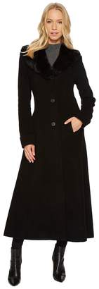 Lauren Ralph Lauren Faux Fur Shawl Collar Fit Flare Maxi Women's Coat