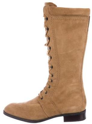 Tod's Suede Mid-Calf Boots