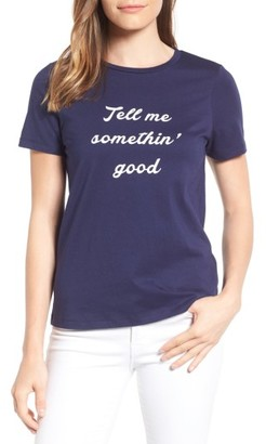 Women's Draper James Tell Me Something Good Cotton Tee $38 thestylecure.com