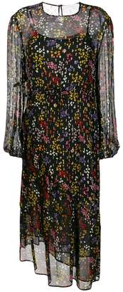 See by Chloe sheer floral midi dress