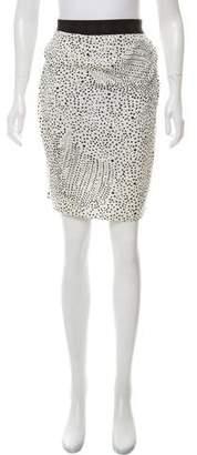 Willow Patterned Knee-Length Skirt