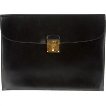 Hermes very good (VG Large Black Clutch Bag