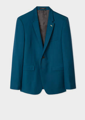 Paul Smith Men's Slim-Fit Dark Petrol Wool Blazer