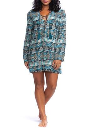 La Blanca Lace-Up Cover-Up Tunic