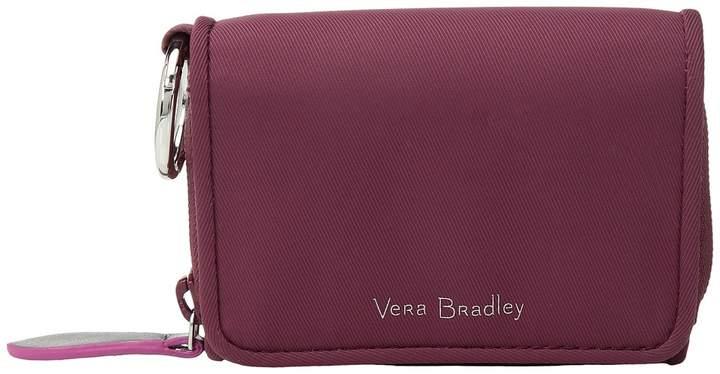 Vera Bradley Midtown RFID Card Case Credit card Wallet - HAWTHORN ROSE - STYLE