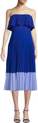 Aidan Mattox Aidan Color Block Pleated Dress