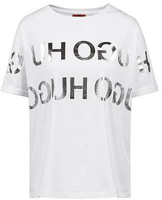 4b618f89f HUGO BOSS Relaxed-fit T-shirt with foil reverse-logo print