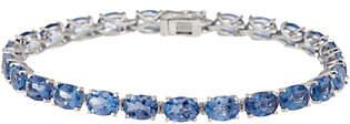 """QVC Color Change Fluorite 8"""" Bracelet, 22.75 cttw,Sterling Silver"""