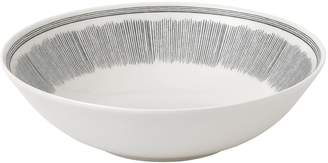 ED Ellen Degeneres Crafted By Royal Doulton Crafted By Royal Doulton Charcoal Grey Lines Serving Bowl
