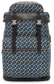 BOSS Hugo Printed backpack in nylon gabardine calf-leather trims One Size Patterned