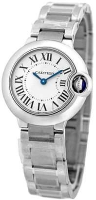"""Cartier Ballon Bleu"""" W69010Z4 Stainless Steel Quartz 28mm Womens Watch"""