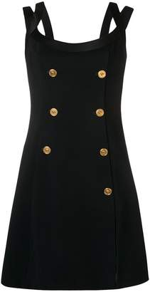 Versace button-embellished dress