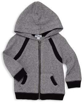 Splendid (スプレンディッド) - Splendid Splendid Baby Boy's Waffle Knit Hoodie - Marl Grey - Size 6-12 Months
