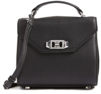 Rebecca Minkoff Top Handle Leather Satchel - Black $295 thestylecure.com