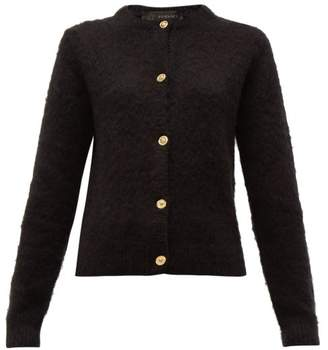 Versace Medusa Button Knitted Cardigan - Womens - Black