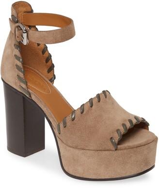 See by Chloe Whipstitch Platform Ankle Strap Sandal
