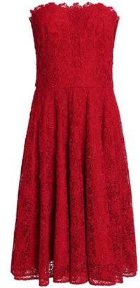 Dolce & Gabbana Strapless Cotton-Blend Guipure Lace Dress