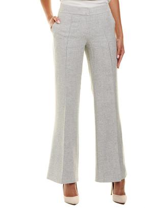 Lafayette 148 New York Kenmare Flare Linen, Wool, & Silk-Blend Pant
