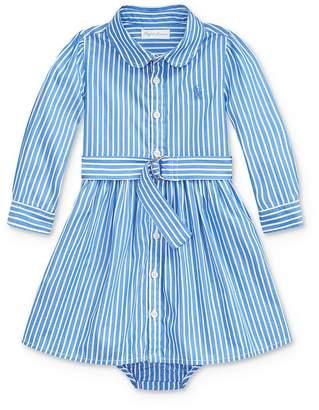 Ralph Lauren Girls' Belted Shirt Dress & Bloomers Set - Baby
