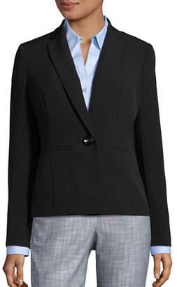 Kasper SUITS Seam-Front Solid Blazer