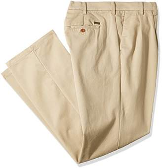 Izod Men's Big and Tall Performance Stretch Pleated Pant