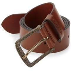 Diesel Min02 Logo-Engrave Buckle Leather Belt