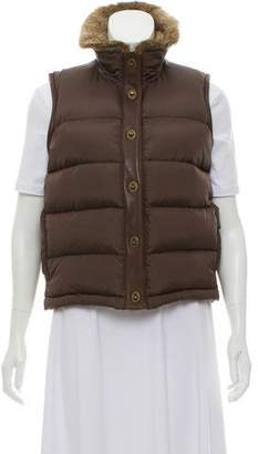 MICHAEL Michael Kors Fur-Trimmed Puffer Vest